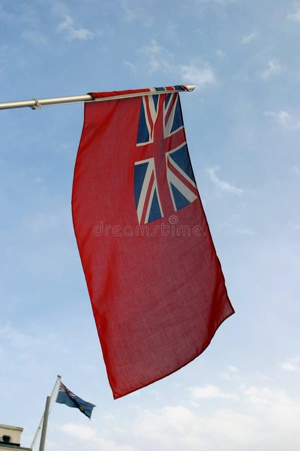 Bandera roja imágenes de archivo libres de regalías