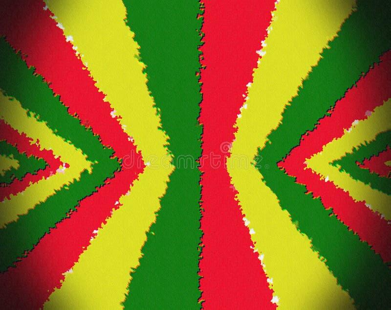Bandera roja, amarilla, verde del rasta imagen de archivo