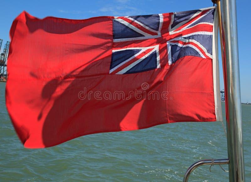 Bandera roja británica imagen de archivo