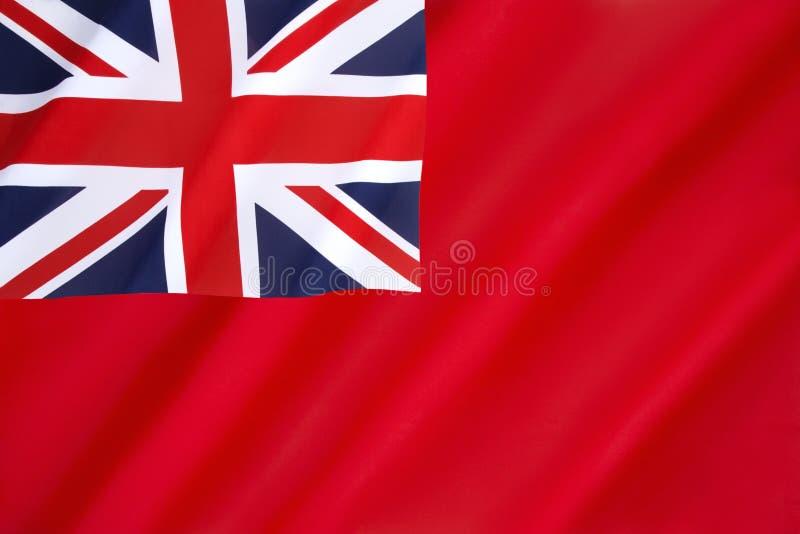 Bandera roja británica foto de archivo libre de regalías