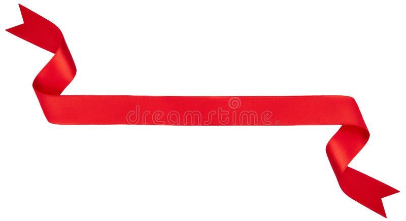 Bandera roja de la cinta imagen de archivo libre de regalías