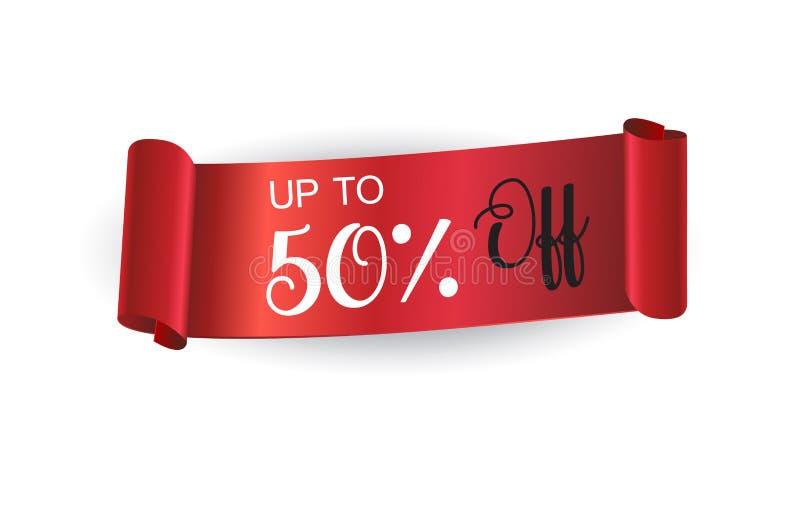 Bandera roja de la cinta de las ventas libre illustration
