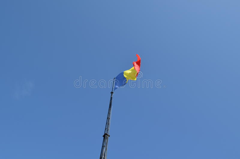 Bandera rumana imagen de archivo libre de regalías