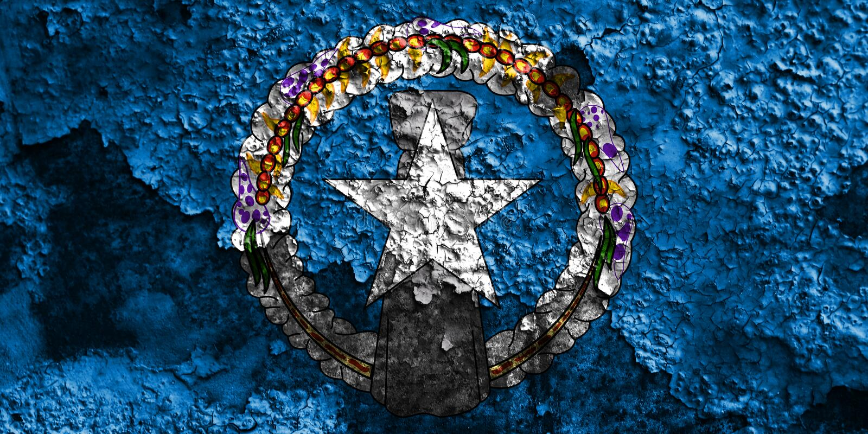 Bandera septentrional del grunge de Mariana Islands, la Commonwealth del unido fotografía de archivo libre de regalías