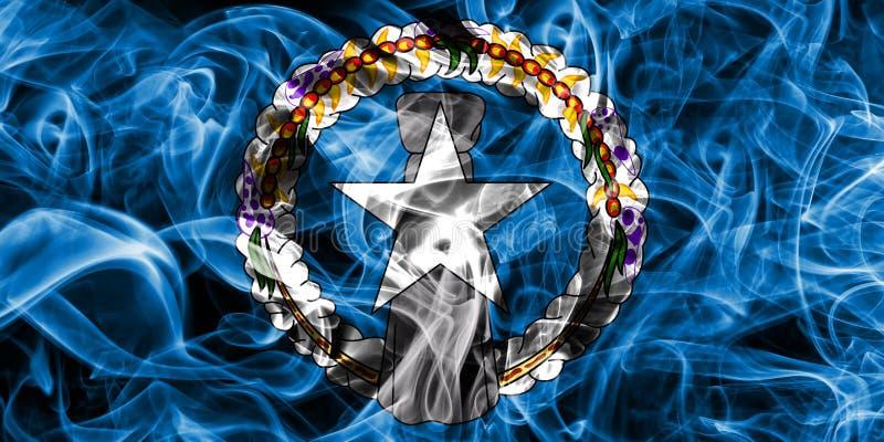 Bandera septentrional del humo de Mariana Islands, te del dependiente de Estados Unidos fotos de archivo