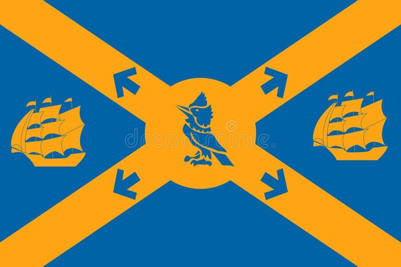 Bandera simple de la ciudad de Canadá ilustración del vector