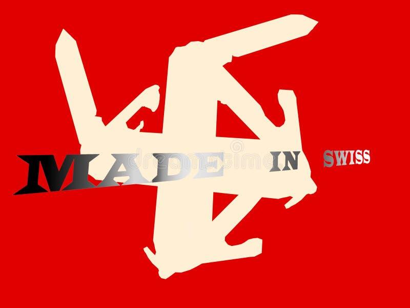 Bandera suiza ajustada libre illustration
