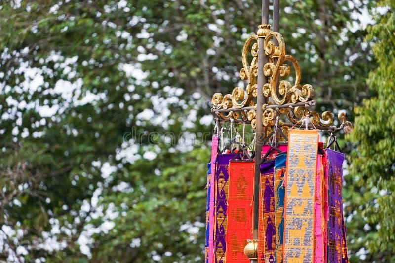 Bandera tailandesa septentrional tradicional de Tung foto de archivo libre de regalías