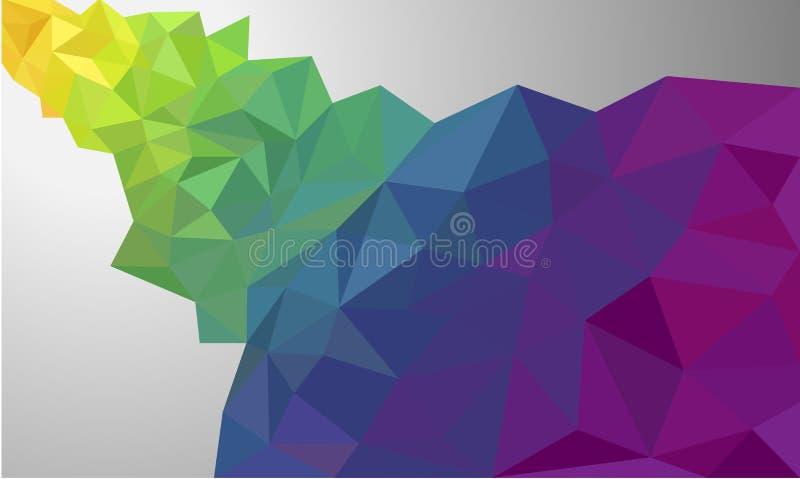 Bandera triangular tallada polivinílica baja del fondo del papel pintado del polígono stock de ilustración