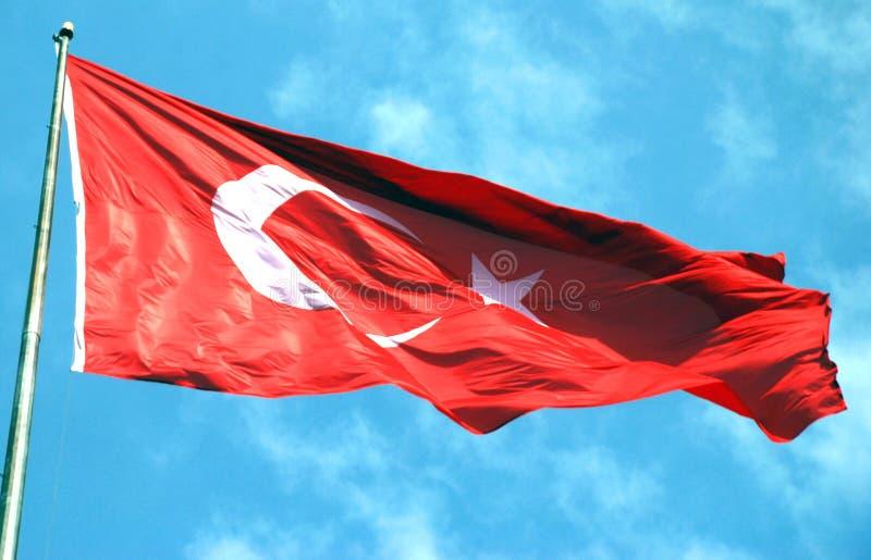 Bandera turca fotos de archivo