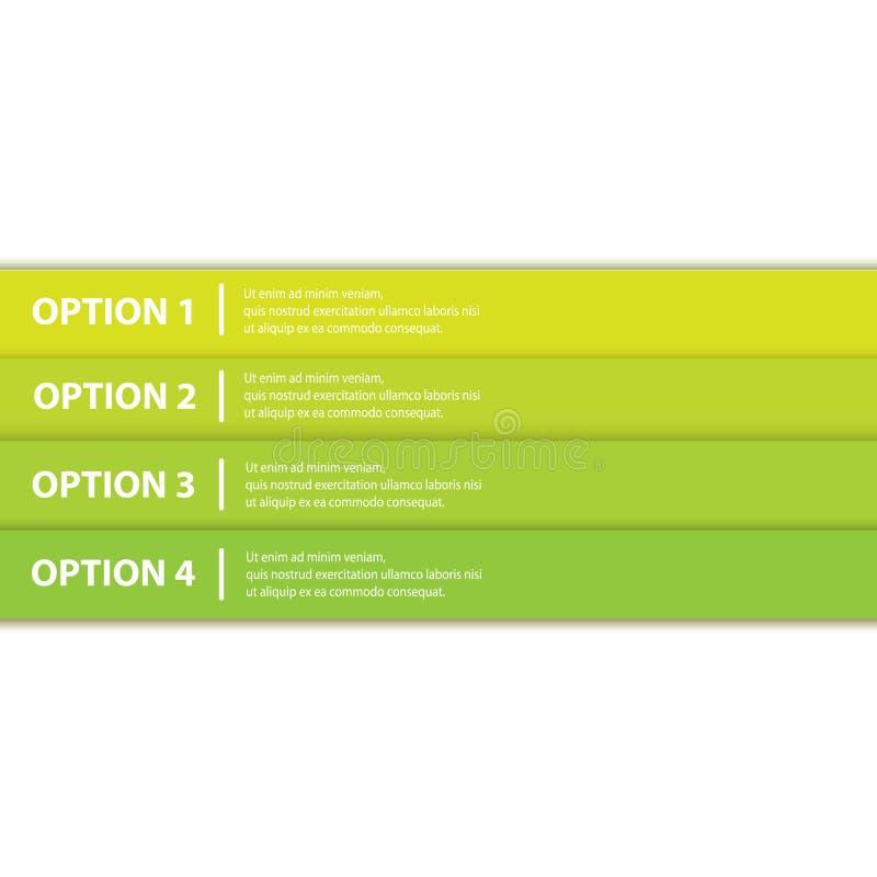 Bandera verde del fondo del progreso del papel del vector libre illustration