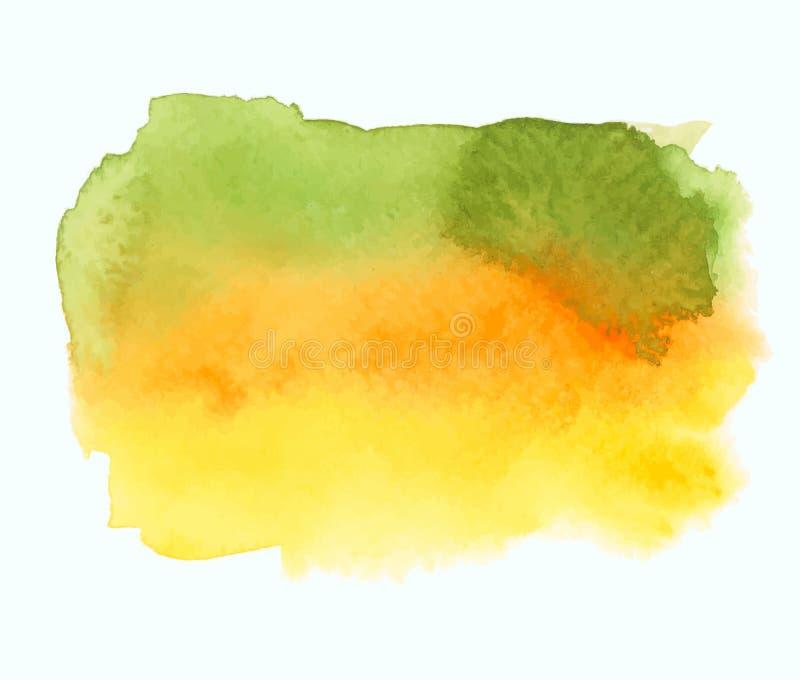 Bandera verde y amarilla de la pendiente de la acuarela libre illustration