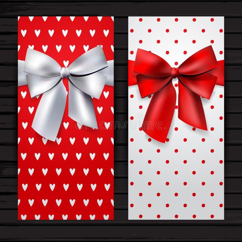 Bandera vertical fijada para el día de tarjeta del día de San Valentín del santo libre illustration