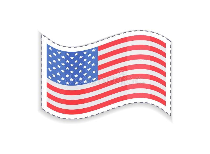 Bandera vieja de los E.E.U.U. de la gloria de la forma rectangular, patriótica ilustración del vector
