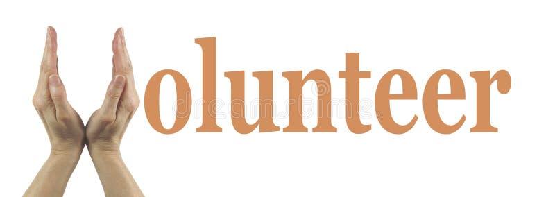 Bandera voluntaria simple fotos de archivo
