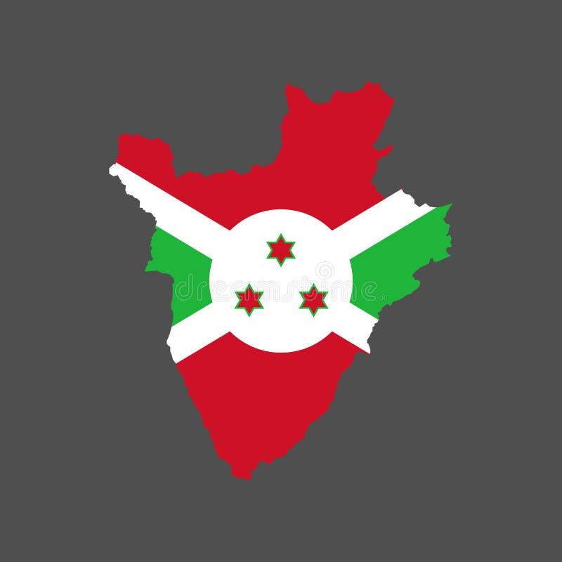 Bandera y mapa de Burundi libre illustration
