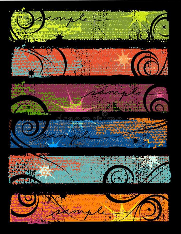 Banderas 2 de Grunge ilustración del vector