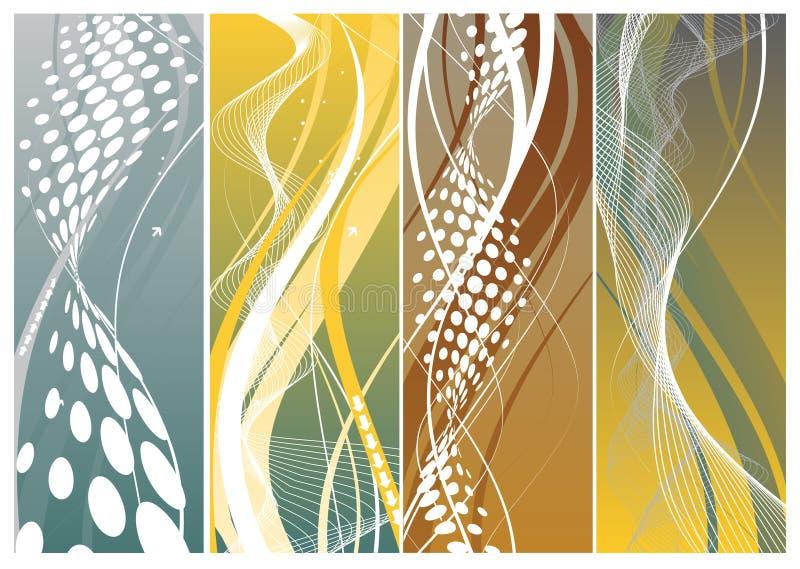 Banderas abstractas libre illustration