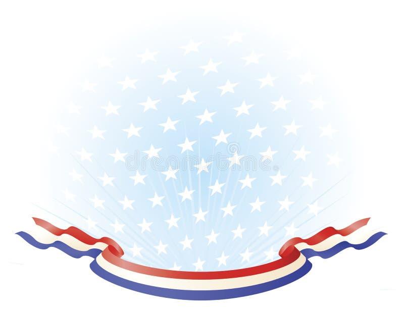 Banderas azules blancas rojas patrióticas ilustración del vector