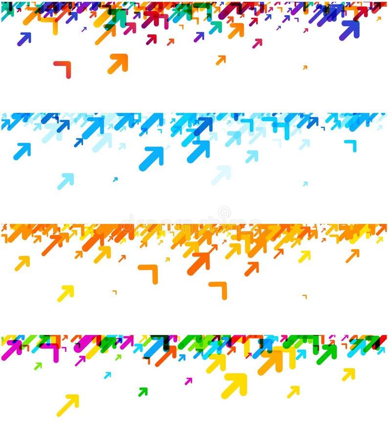 Banderas blancas con las flechas coloridas libre illustration