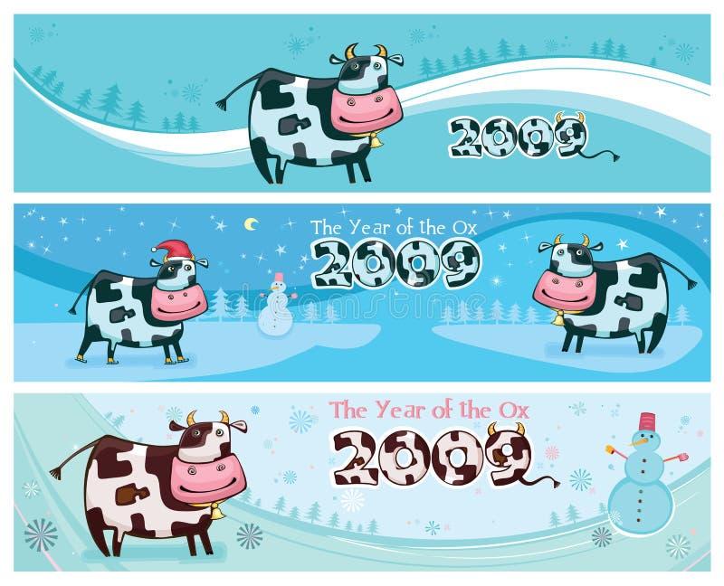 Download Banderas Cómodas Lindas De Las Vacas Ilustración del Vector - Ilustración de ganados, vaca: 7279401