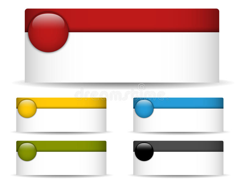 Banderas coloridas con el espacio en blanco stock de ilustración