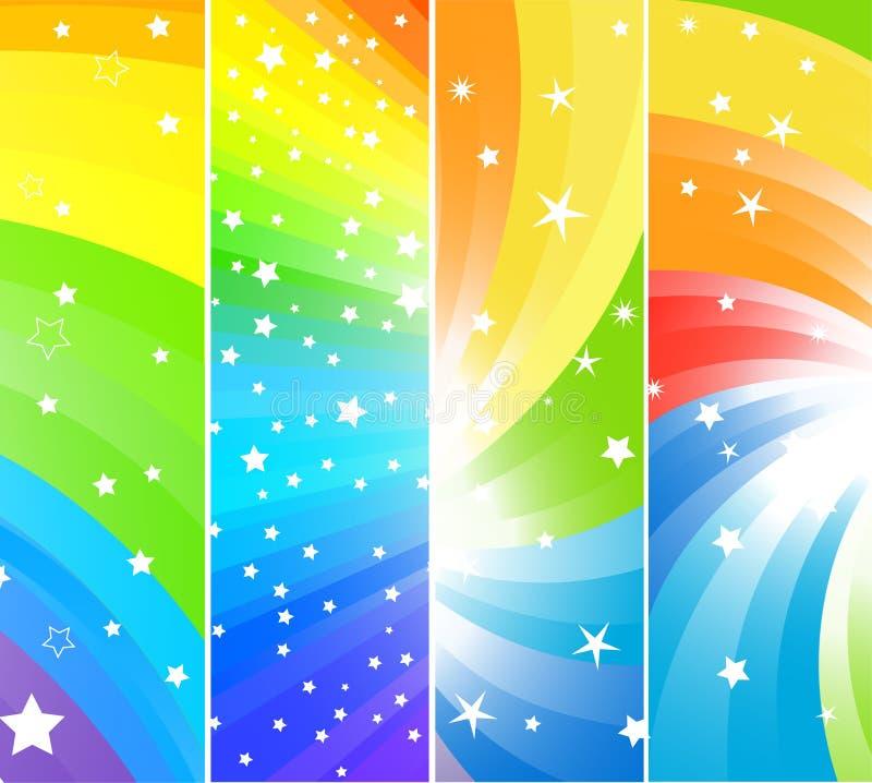 Banderas coloridas del vector ilustración del vector