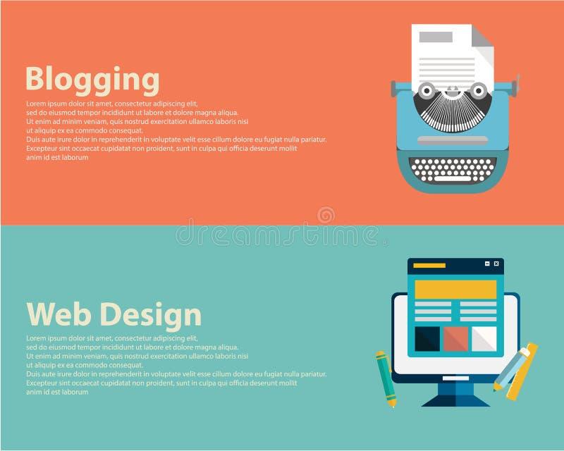 Banderas completamente diseñadas para el diseño gráfico, el diseño web y bloguear Vector libre illustration