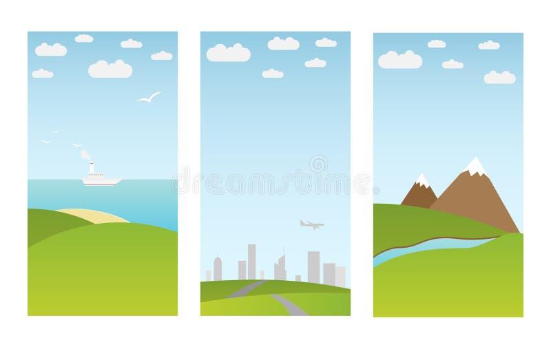 Banderas con paisaje libre illustration