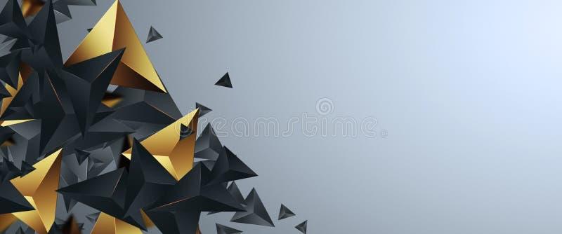 Banderas creativas del promo del diseño, diseño de oro en un fondo ligero, venta caliente, descuentos Bandera, tarjeta, espacio d stock de ilustración