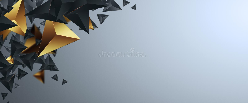 Banderas creativas del promo del diseño, diseño de oro en un fondo ligero, venta caliente, descuentos Bandera, tarjeta, espacio d ilustración del vector