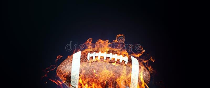 Banderas creativas del promo del diseño, temas de los deportes, bola del fútbol americano, venta caliente, descuentos bandera, es ilustración del vector