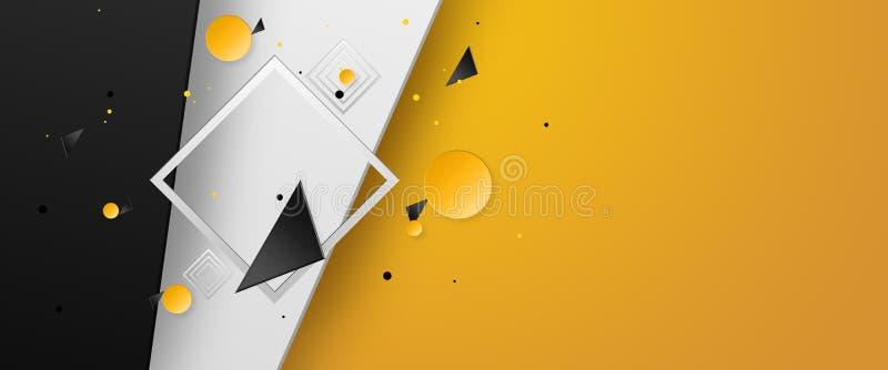 Banderas creativas del promo del diseño, venta caliente, descuentos bandera, espacio de la copia Maqueta, aviador horizontal para ilustración del vector