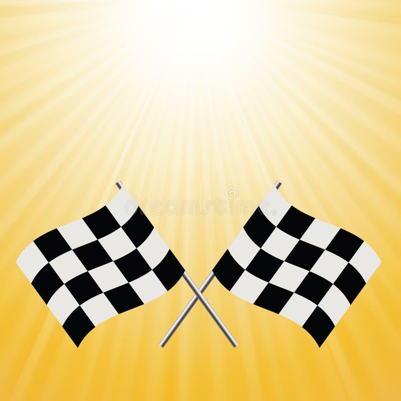 Banderas a cuadros stock de ilustración