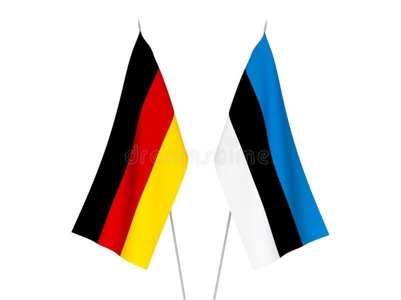 Banderas de Alemania y de Estonia ilustración del vector