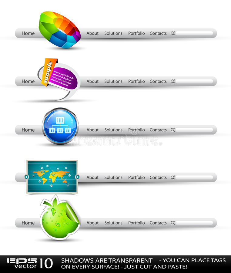 Banderas de alta tecnología modernas de la búsqueda del estilo ilustración del vector