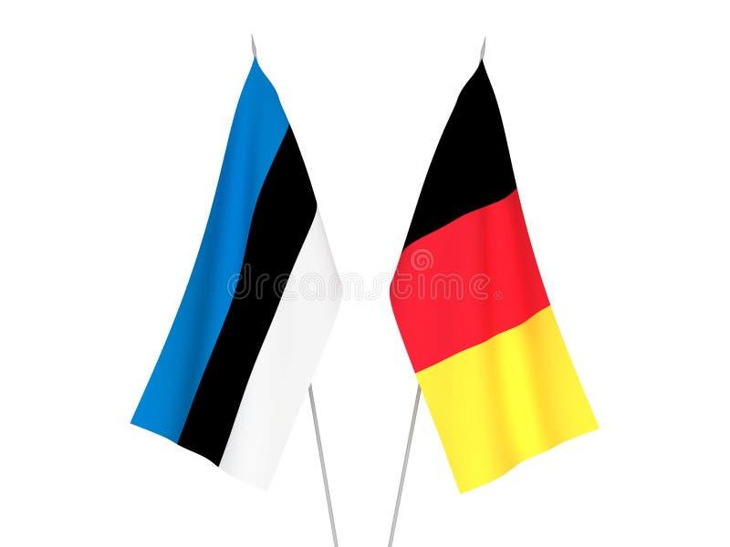 Banderas de Bélgica y de Estonia stock de ilustración