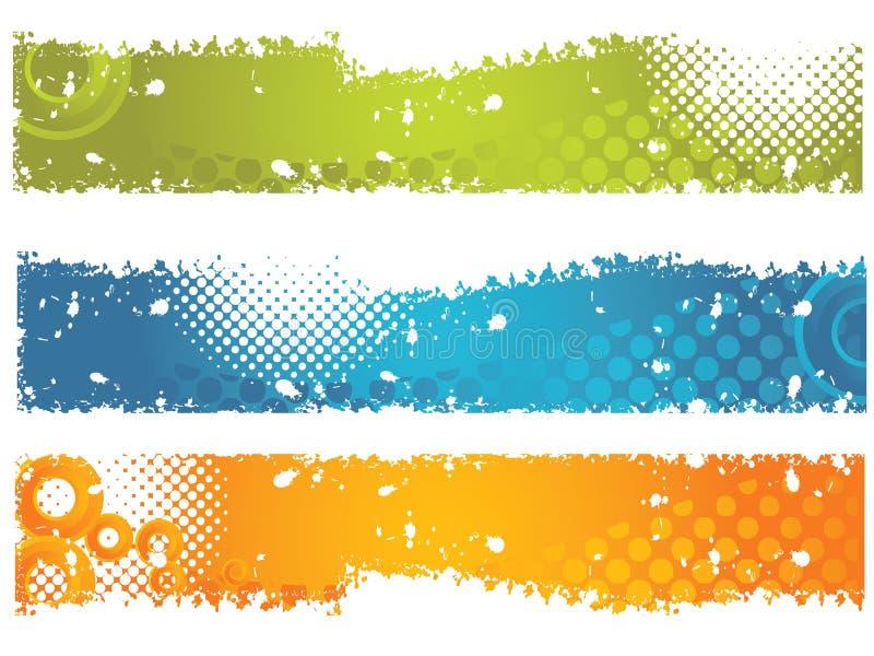 Banderas de Grundge ilustración del vector