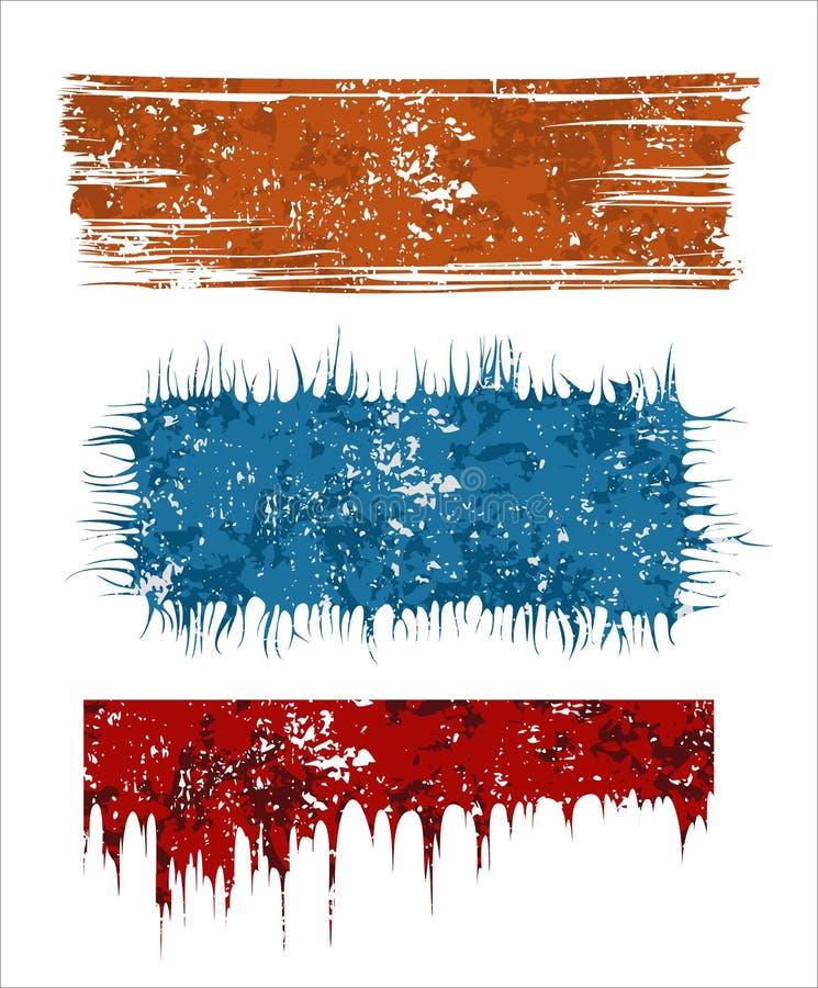 Banderas de Grunge ilustración del vector