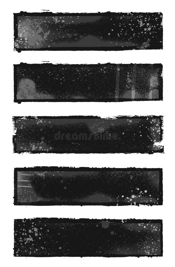 Banderas de Grunge stock de ilustración