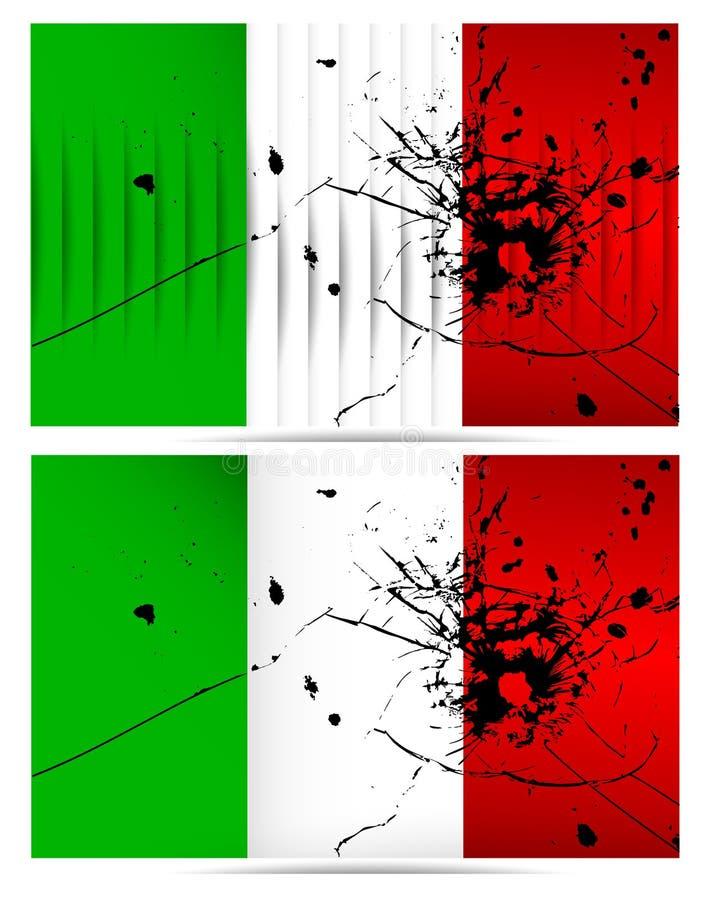 Banderas de Italia del agujero de bala libre illustration