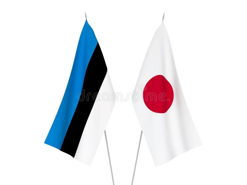 Banderas de Jap?n y de Estonia libre illustration