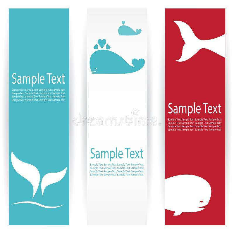 Banderas de la ballena ilustración del vector