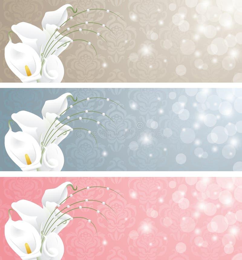 Banderas de la boda. ilustración del vector