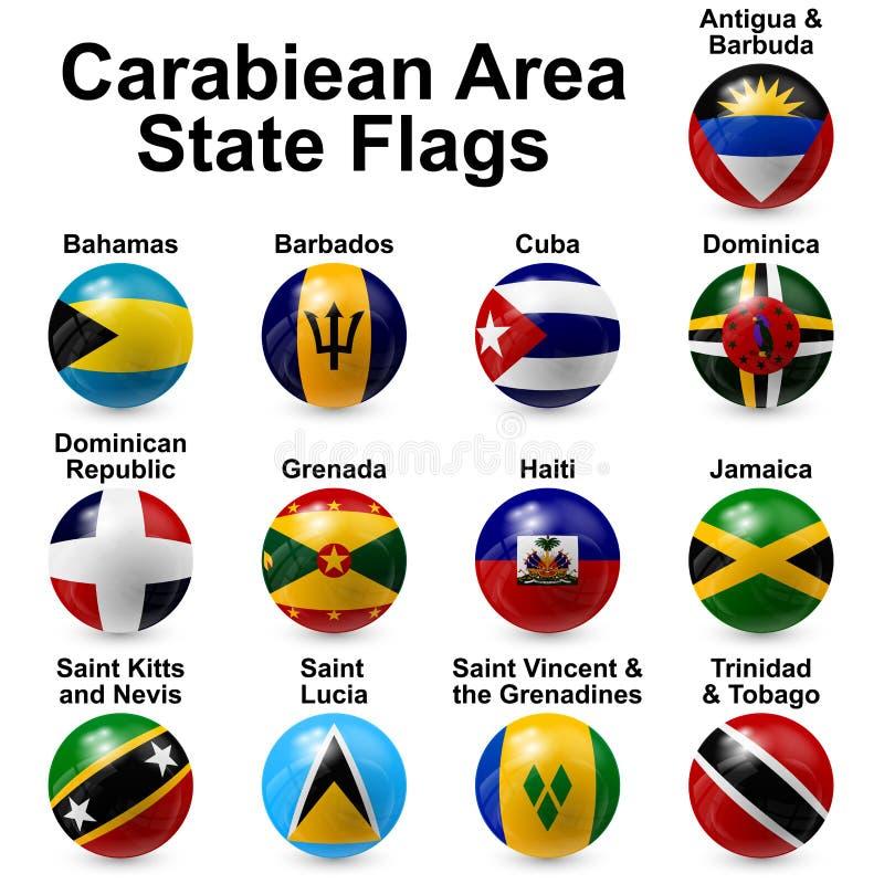 Banderas de la bola stock de ilustración