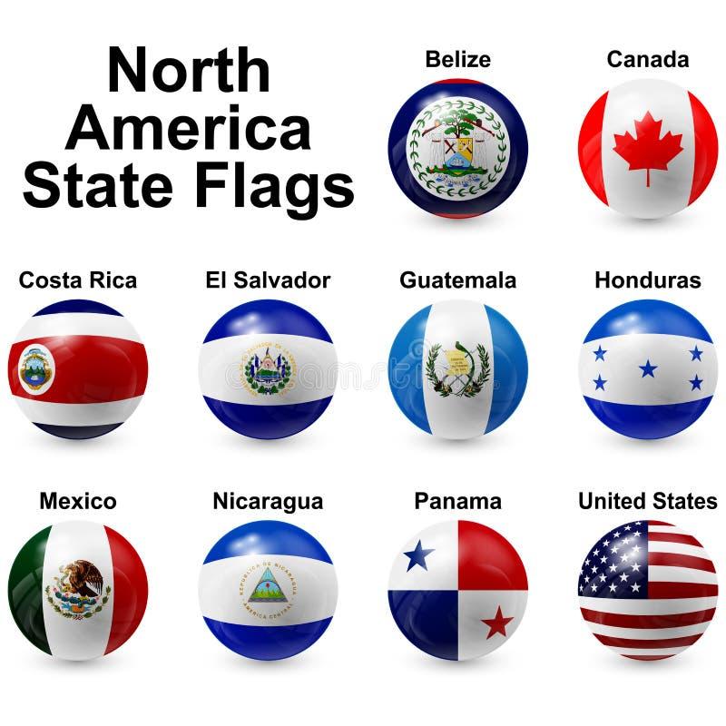 Banderas de la bola ilustración del vector