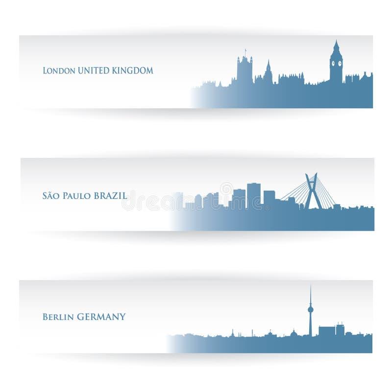 Banderas de la ciudad ilustración del vector