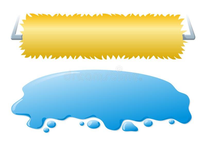 Banderas de la colada de coche stock de ilustración