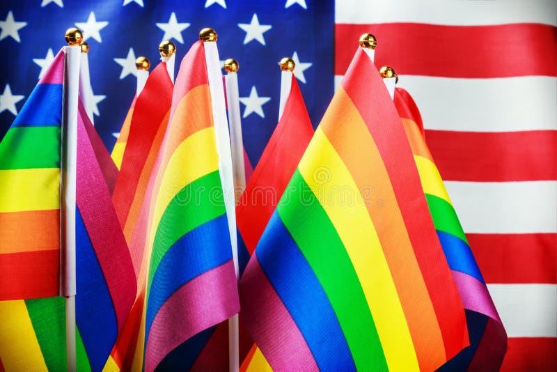 Banderas de la comunidad de LGBT fotos de archivo