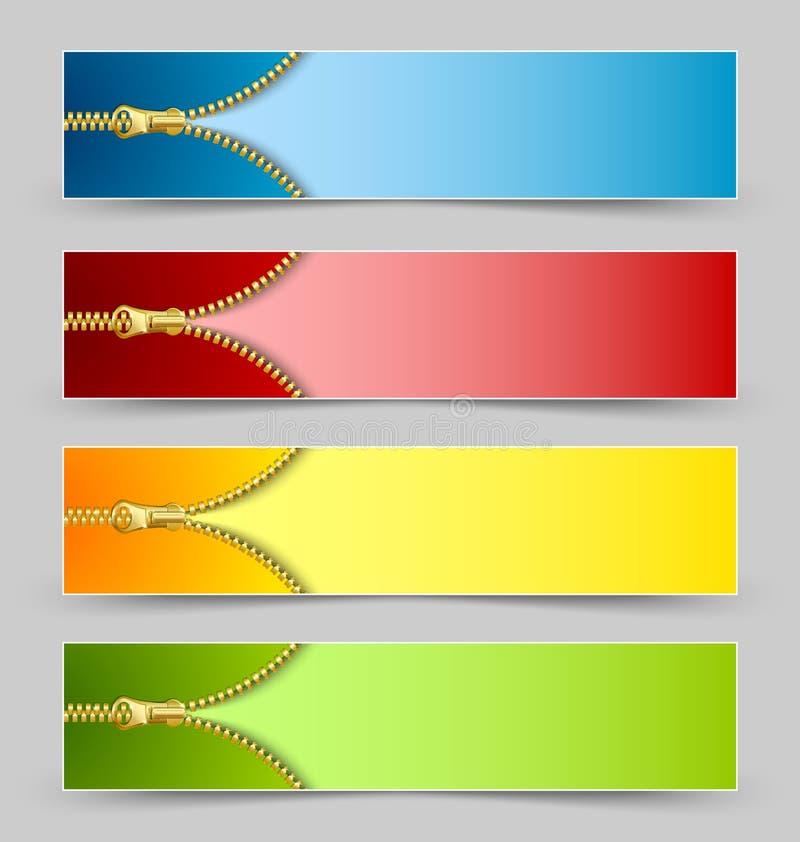 Banderas de la cremallera libre illustration